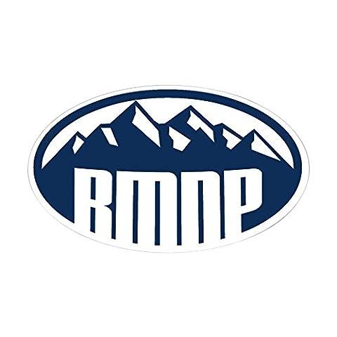 CafePress - Rocky Mountain Natl Park - Oval Bumper Sticker, Euro Oval Car Decal - Colorado Rocky Mountain Natl Park