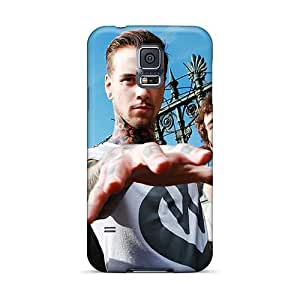 Samsung Galaxy S5 KLA15977RNJu Customized Vivid Asking Alexandria Band Pictures Shock Absorbent Hard Phone Covers -CristinaKlengenberg