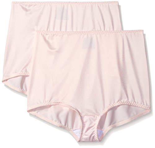Hanes Shapewear Women's Control 2 Pack Shaping Brief, Light Pink/Light Pink, 5X
