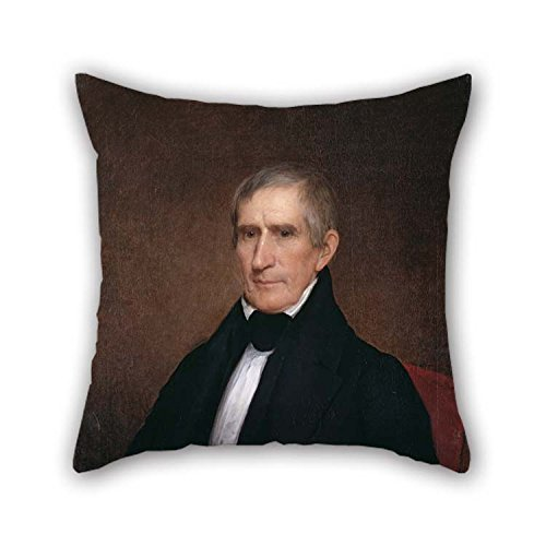William Cotton Tapestry - eyeselect Throw Pillow Covers of Oil Painting Albert Gallatin Hoit - William Henry Harrison for Girls Bench Gril Friend Play Room Coffee House 18 X 18 Inches / 45 by 45 cm(Both Sides) for Christmas