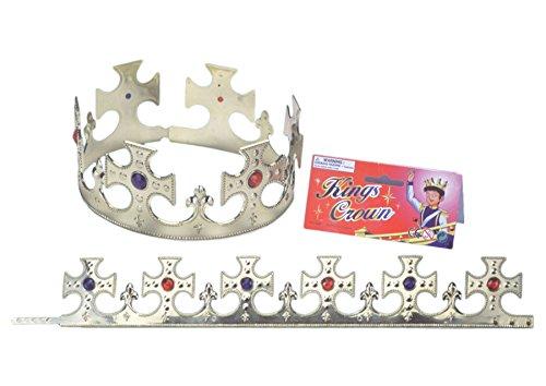 - Loftus International Loftus Large Cross Jewel Encrusted Royal Crown, Gold, One Size Novelty Item