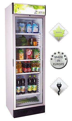 Zorro - Flaschenkühlschrank 390 ZCH - Glastüre - Reklametafel beleuchtet - Getränkekühlschrank