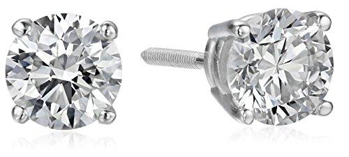 ite Gold Lab Created Diamond Stud Earrings (1 cttw, I-J Color, SI1-SI2 Clarity) (Earrings Si1 Clarity Diamonds)