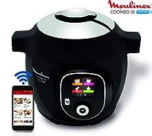 Robot de cocina Cookeo + Connect, con conexión a aplicación vía Bluetooth, con 150recetas, 6 litros, de la marca Moulinex. Ref: YY2942FB (versión francesa)