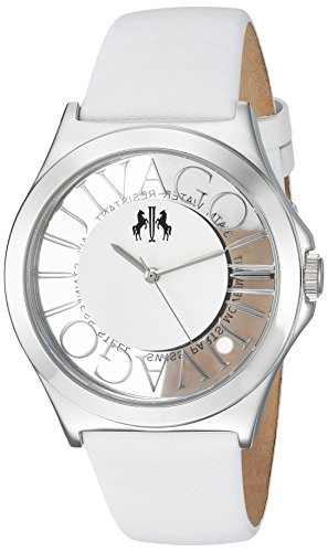 Jivago Women's 'Fun' Swiss Quartz Stainless Steel Casual Watch, Color:White (Model: JV8433)