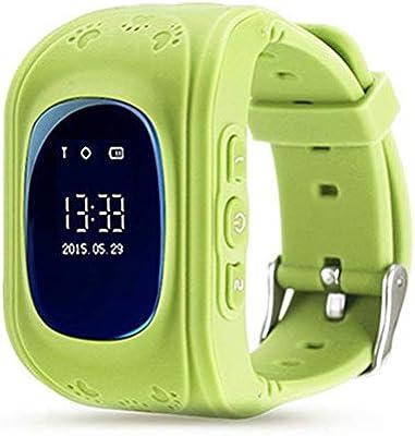 DKHSKITFJRLO Pulsera de actividad MOCRUX Relojes para niños Q50 SOS Llamada GSM GPRS GPS Reloj inteligente para bebés Rastreador de ubicación Reloj ...