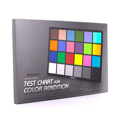 Mennon Test Color Chart with 24 Colors, Small (8'' x 6'')