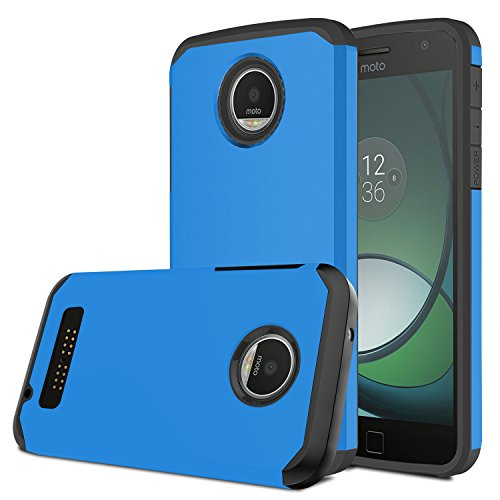 Moto Z Play Case, Venoro [Shockproof] Slim Hybrid Dual Layer Armor Defender Rugged Protective Case Cover for Motorola Moto Z Play/Moto Z Play Droid (Blue)