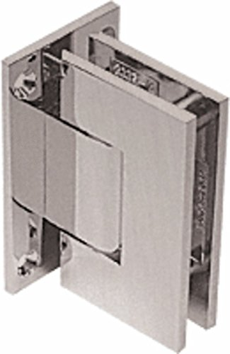 - C.R. LAURENCE GEN337BN CRL Brushed Nickel Geneva 337 Series Adjustable Wall Mount Full Back Plate Hinge
