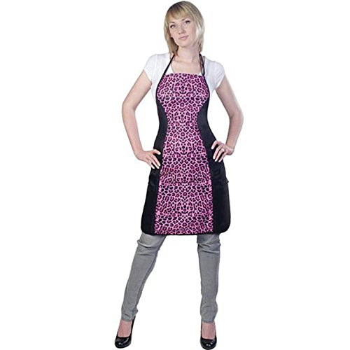 Cricket Water Resistant Slimming Apron, Hot Pink Cheetah, 6.24 -