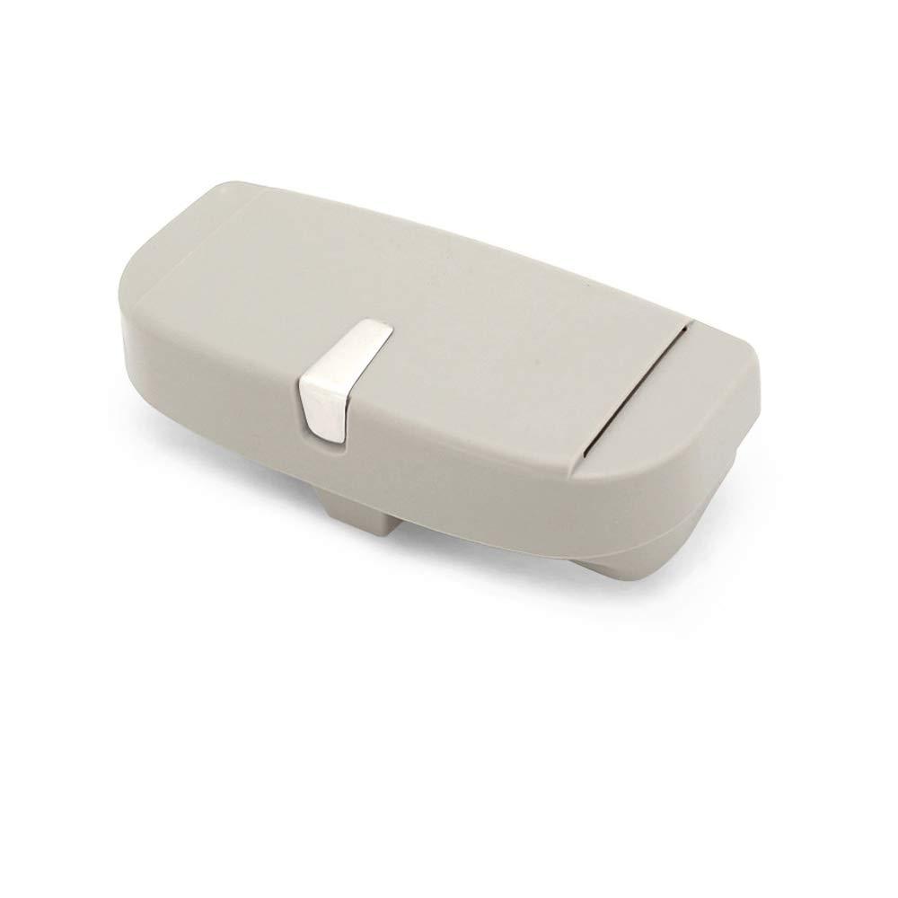 Sonnenbrille Brillenhalterung mit Ticket Card Clip Grau Senmor Brillenetui Brillenhalter f/ür Auto Sonnenblende
