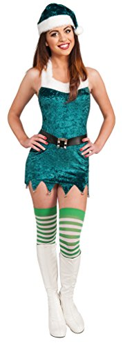 Secret Wishes Sassy Elf Costume, Green, (Sassy Elf)