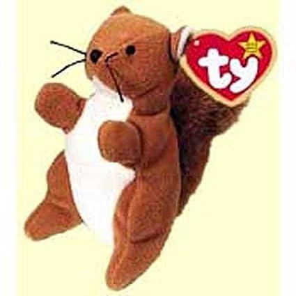 ab1eec6fad4 Amazon.com  Nuts the Squirrel - McDonald s Ty Teenie Beanie MIP ...