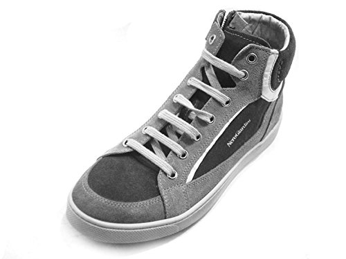 Nero Giardini Junior - Zapatillas de Piel para niño gris piedra