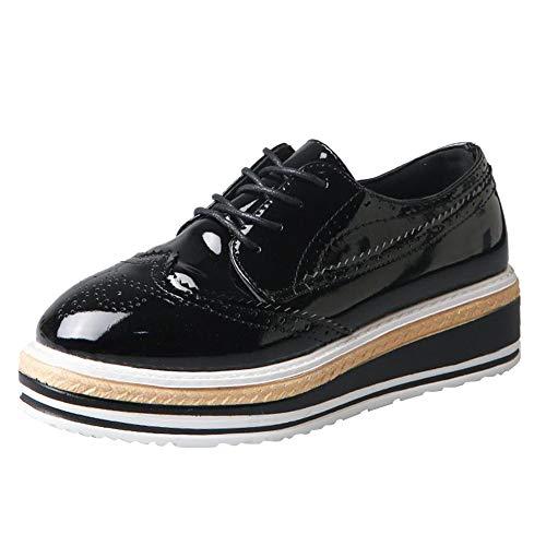 paisse De Sport Pour Chaussures Holywin Semelle Air En Plein Lacets Noir Femme wv6Rq