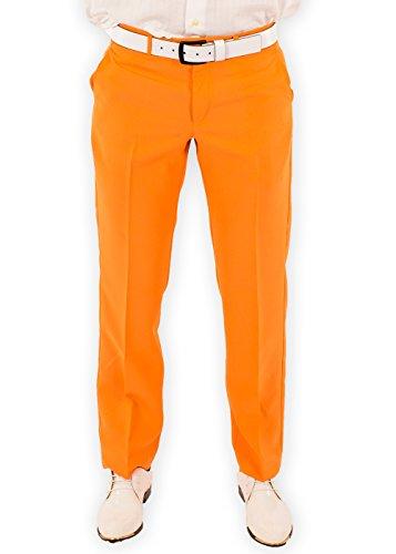 Festified Men's Classic Party Pants In Orange (32) by Festified (Image #1)