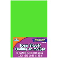 Elmers Foam-sheets 5-1/2-by-8-1/2-inch 50-pack, Rainbow Colors