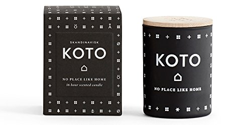 SKAN D · NA VISK Skandinavisk KOTO (Home) Scented Candle, Black Mini 55gr - Amber, Mandarin, Schersmin, Vanilla Fragranced (Orange Vanilla Pillar)