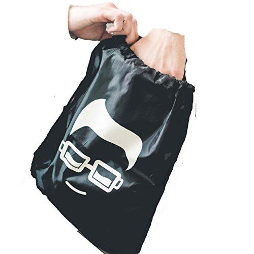 SOPHISTICATED Cinch Sack Drawstring Sport Gym Bag Backpack Sacks Athletic Black White Tote Bags