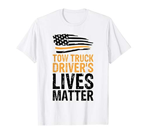 (Trucker Shirt Tow Truck Driver USA Flag Tees Funny Men Gift)