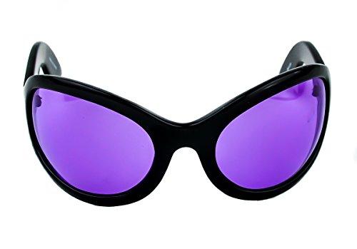 - Purple Lens Oversized Sunglasses Sexy DJ Rave Fashion Glasses