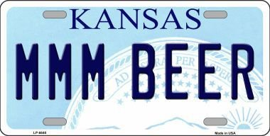 Mmm Beer - Smart Blonde LP-6640 MMM Beer Kansas Novelty Metal License Plate