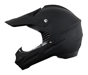 Vega Viper Off-Road Helmet (Solid Flat Black, X-Small)