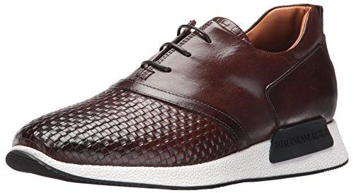 Bruno Magli Men's Dito Fashion Sneaker, Dark Brown Woven, 11 M US Leather Woven Pumps