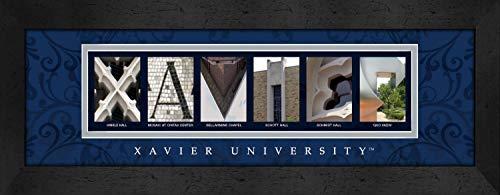 Border Big Bold (Prints Charming Letter Art Framed Print, Xavier Ohio University-Xavier, Bold Color Border)