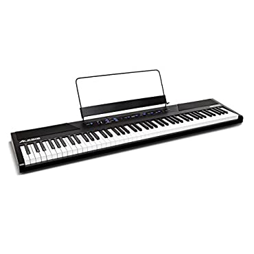 Alesis Recital 88-Key Beginner Digital Piano with Full-Keys and Included Power Supply