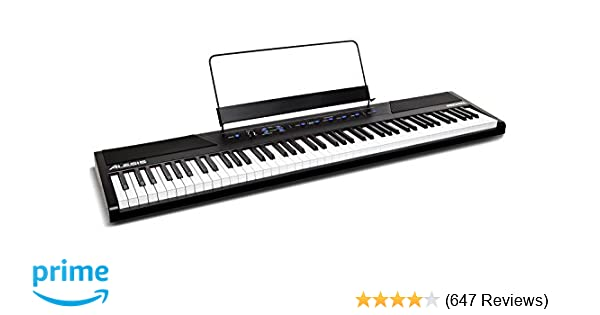 Amazon.com: Alesis Recital 88-Key Beginner Digital Piano with Full-Size Semi-Weighted Keys and Power Supply: Musical Instruments