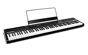 Alesis Recital - 88-Key Beginner Digital Piano/Keyboard with Full-Size Semi-Weighted Keys, Power Supply, Built-In Speakers and 5 Premium Voices (Amazon Exclusive)