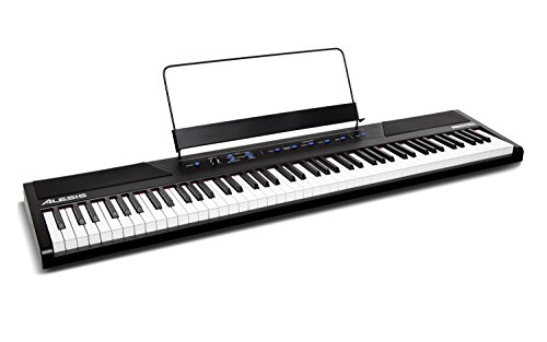 Alesis Recital – 88-Key Beginner Digital Piano/Keyboard with Full-Size Semi-Weighted Keys, Power Supply, Built-In Speakers and 5 Premium Voices (Amazon Exclusive)