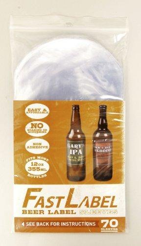 Home Brew Ohio FL1 Fast Label Beer Label Sleeves 12 oz. (330-355 mL) Beer Bottle Labels