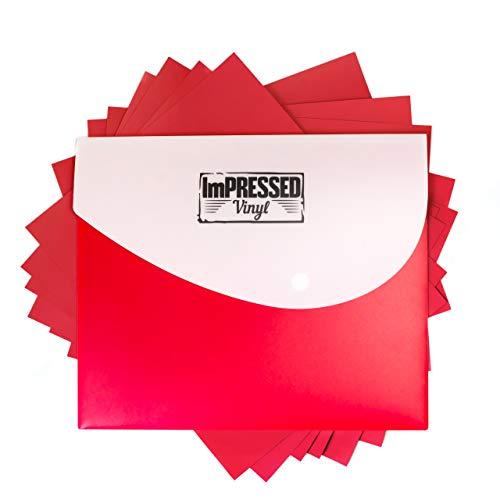 Red Heat Transfer Vinyl -10 Pack of 12