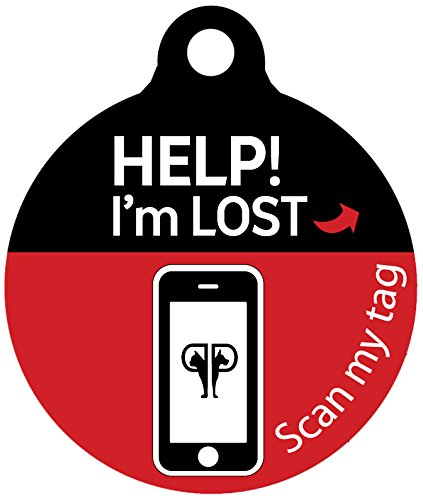 Platinum Pets Lost and Found Small Scannable Pet I.D. Recovery Tag in Candy Apple Red