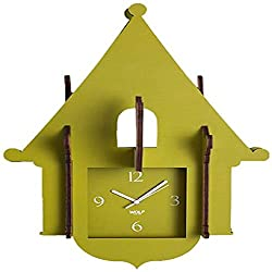 WOLF 333841 Jigsaw Cuckoo Clock, Green