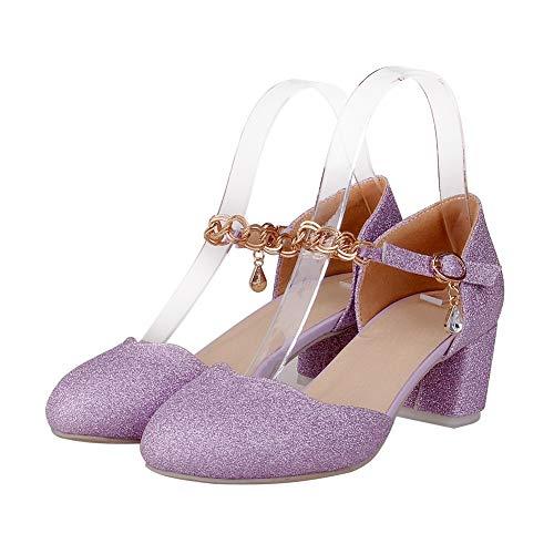 AdeeSu con Purple Sandali SLC04348 35 Donna Zeppa Viola EU qPBzxrq