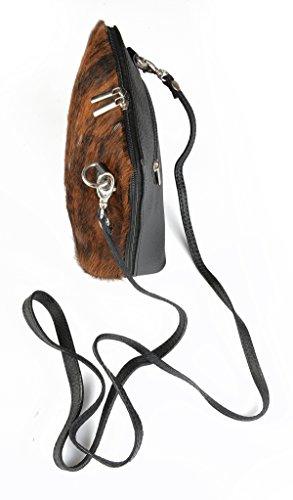 Handtasche klein/Ledertasche/Clutch/Kuhfell/Rindsleder- Handtasche Trachtenlook mit echtem Kuhfell!! - tolles Geschenk