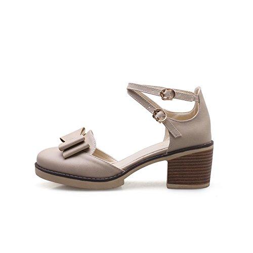 Sandales Compensées Femme 36 5 Abricot Beige Balamasa SBwqdB