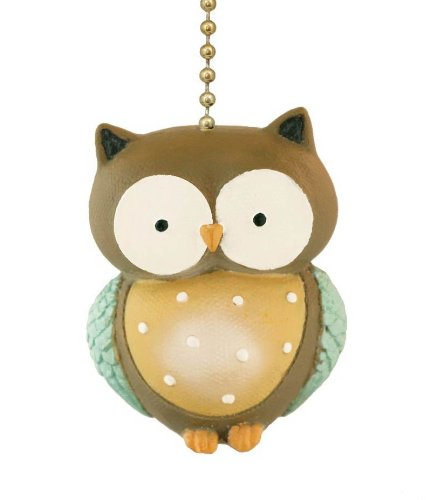 Little Hoot Owl Ceiling Fan Pull Light Chain-Home Decor by Clementine Designs