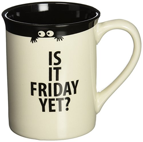 Enesco 4035021 Is It Is It Friday Yet? Mug, Multicolored