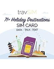 travSIM 71+ Vakantiebestemmingen SIM Kaart (Three UK SIM) Geldig voor 30 Dagen - 6GB Mobiele Data - Australië Frankrijk Brazilië Duitsland Israël Zwitserland Griekenland Nieuw-Zeeland Zweden Vietnam UK Three SIM Kaart