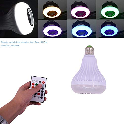 LED RGB Color E27 Wireless Control Smart Music Stereo Audio Speaker Warm Light & Color Changing Lamps Bulb Light Speaker Light Bulb For iPhone 6 7 8 X XS Max iPad Phone Android Mobile