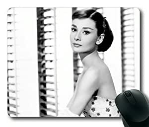 Audrey Hepburn Rectangle Mouse Pad by Sakuraelieechyan by icecream design