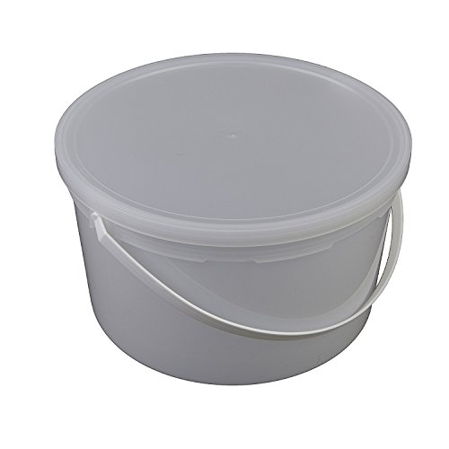 - Consolidated Plastics Pail with Handle, HDPE, 4 Quart, Natural, 10 Piece