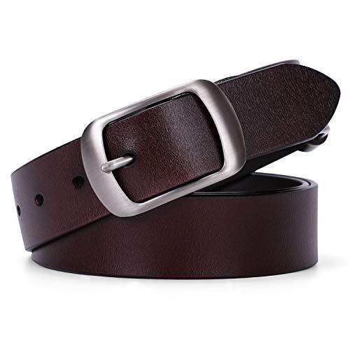 Women Leather Belt Ladies Black Waist Belt for Jeans Pants Dresses Small Size Elegant Gift Box (Suit Pant Size 27
