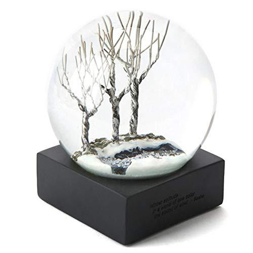 Gotian Creative Plants Transparent Glass Crystal Ball Placed Seasons Seasons Optional Creative Office Home Xmas Decor Gift (B)
