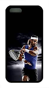 iPhone 5 Case, iPhone 5S Cases - Non-Slip Black Soft Rubber Case Cover for iPhone 5/5s Rafael Nadal Tennis Excellent Grip Protective Rubber Back Case Bumper for iPhone 5/5S