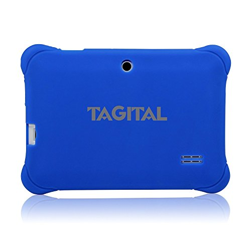 Tagital 7'' T7K Quad Core Android Kids Tablet, with Wifi and Camera and Games, HD Kids Edition with Kid Mode Pre-Installed (Blue) by Tagital (Image #1)